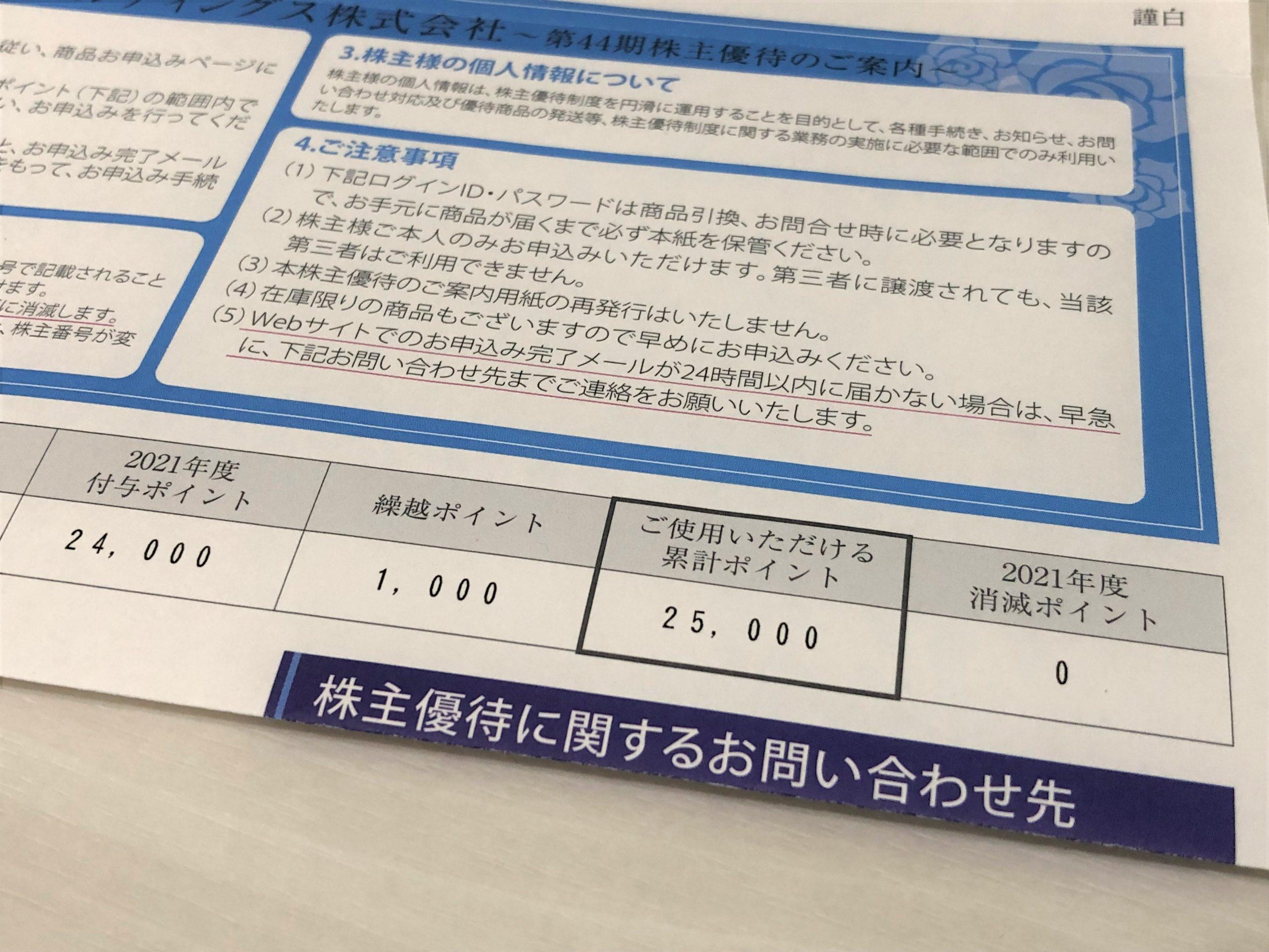 MARUKO マルコ 株主優待ポイント 2021